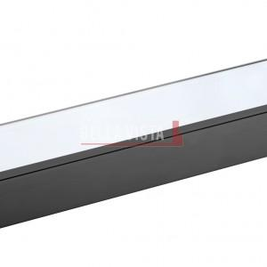 Chunky Glass Shelf 300mm Black