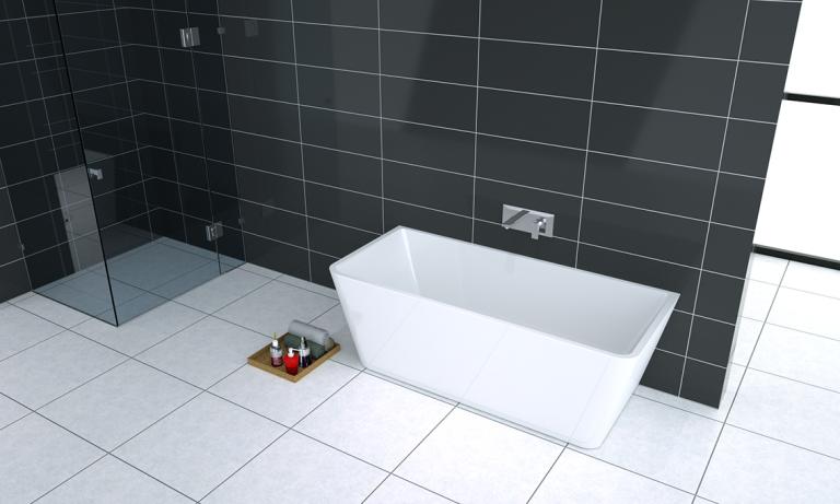 Deko Acrylic Bath Back to Wall 1700mm