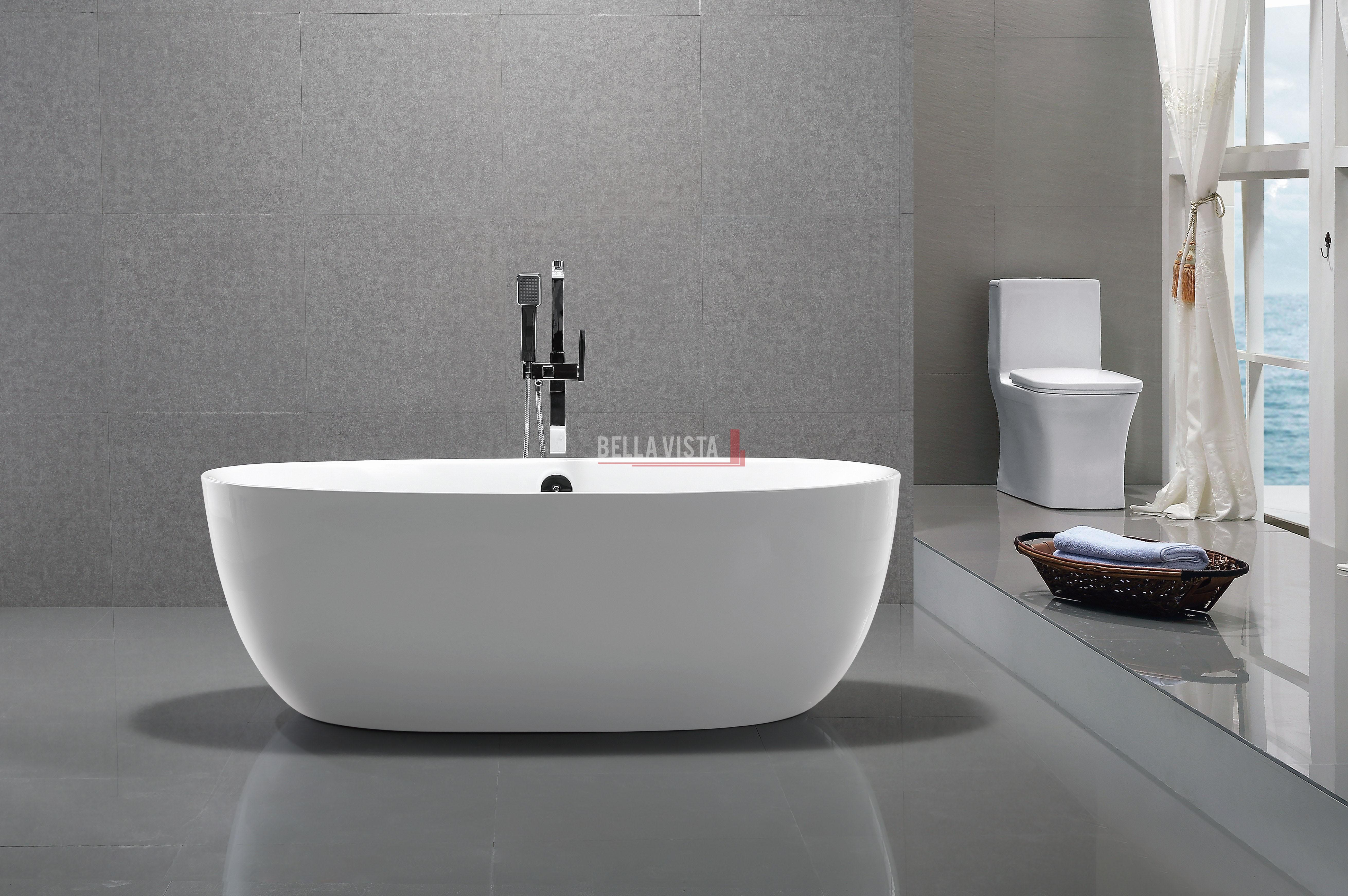 Solid Surface Bath Oval Shape Gloss 1780mm