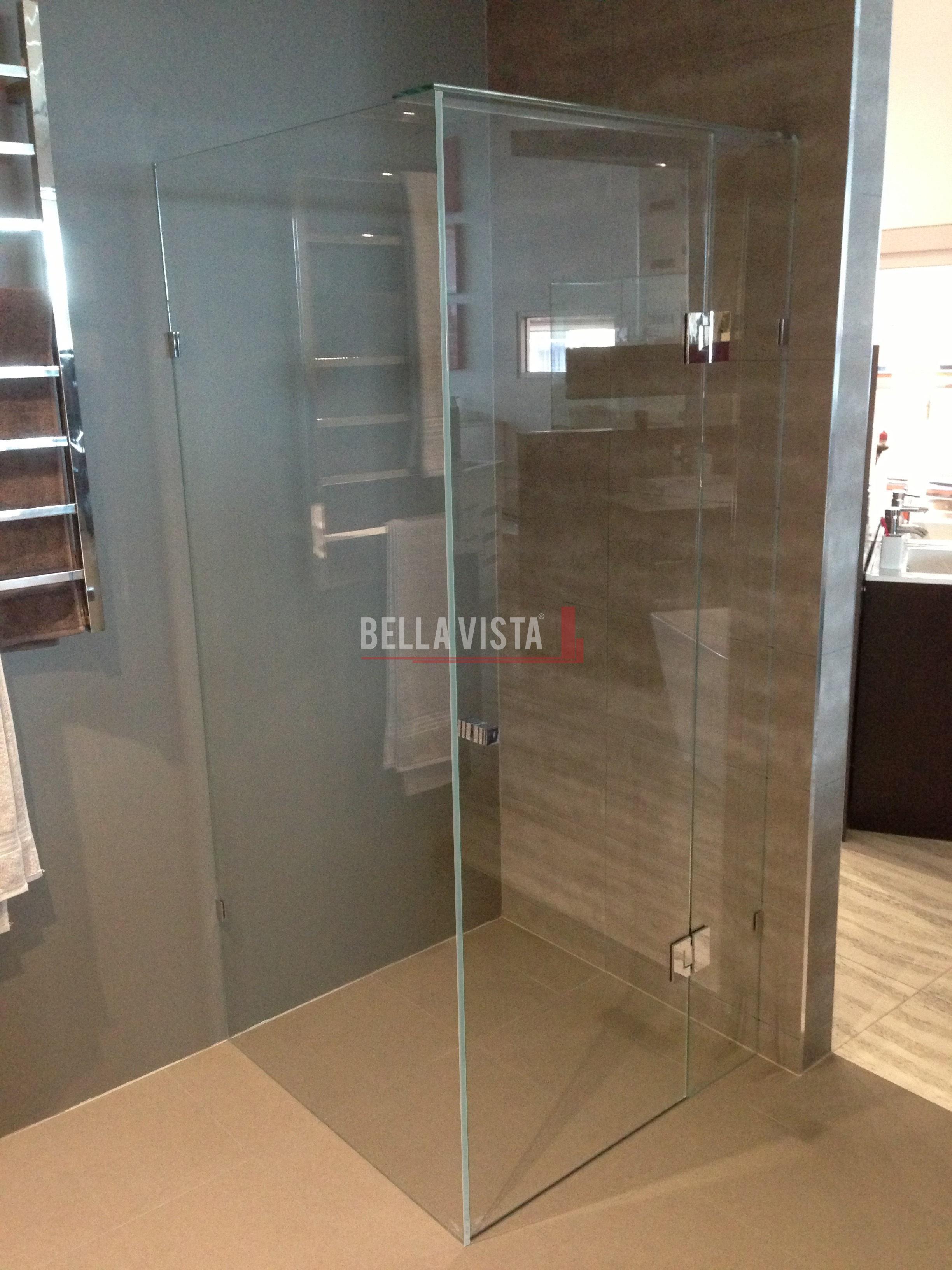 Frameless Crystal Clear Shower Screen 1200mm X 900mm
