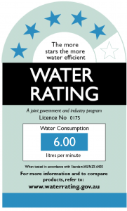 Tapware wels water rating australia