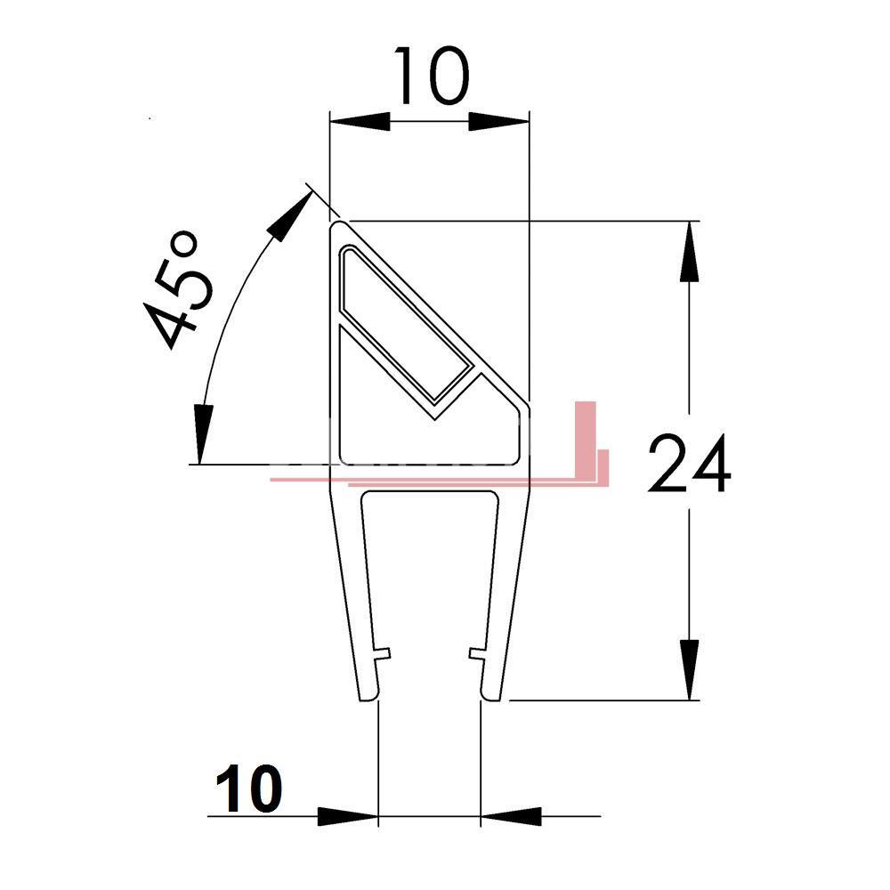 Magnetic 90 / 180 degree Shower Screen Seal | Bella Vista  180 Degree Angle Haircut