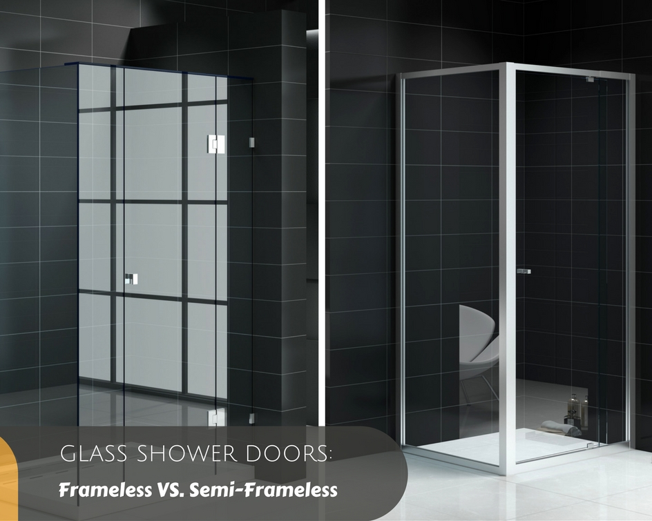 enclosure door rain semi pin panel frameless oil with glass shower