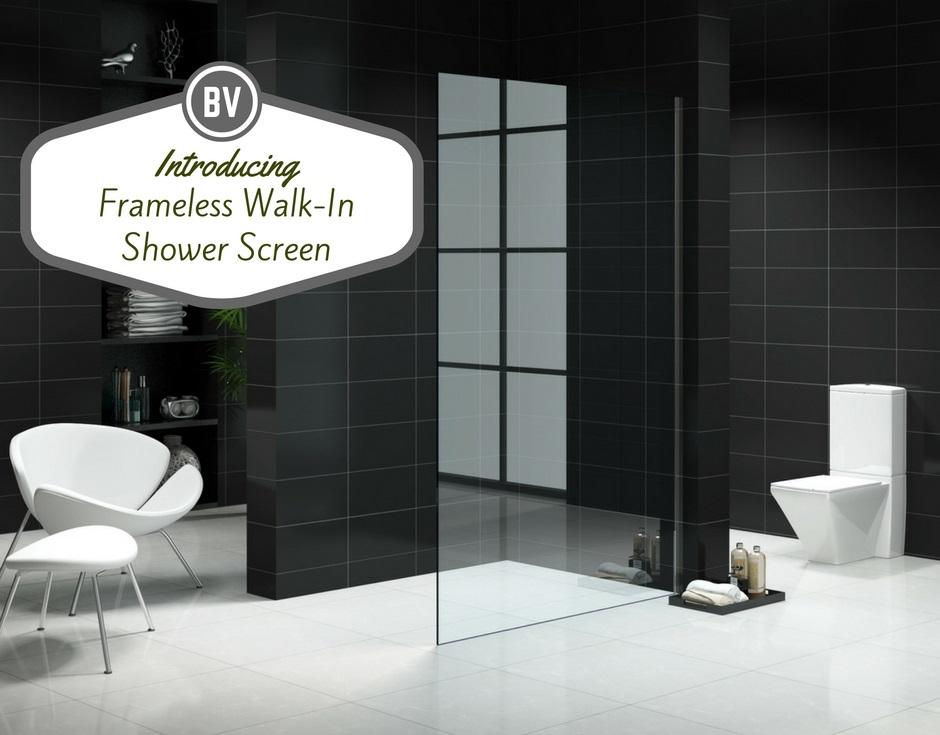 Frameless Walk In Shower Screen | Bella Vista Bathware