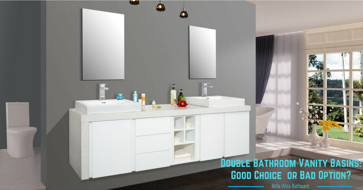 Double Bathroom Vanity Basins Good