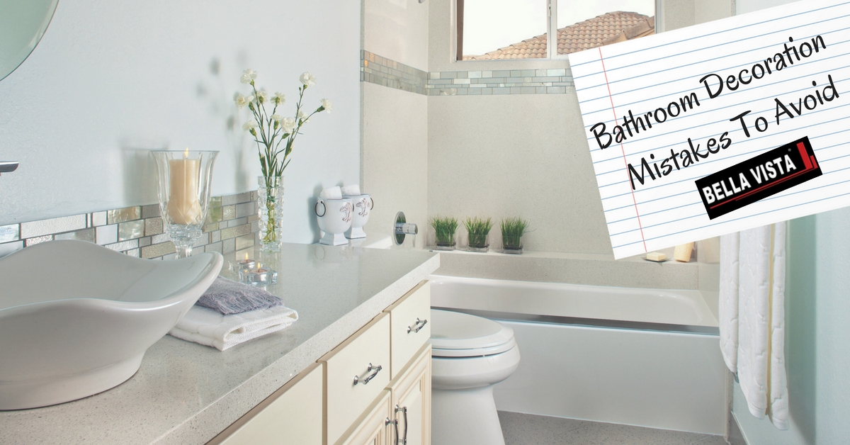 Bathroom Decoration Mistakes To Avoid