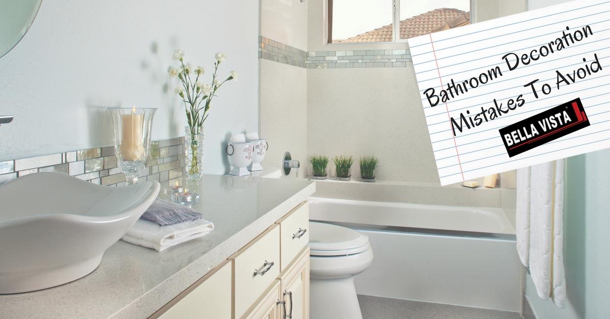 Bathroom Decoration Mistakes To Avoid