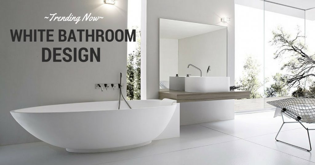 Trending Now: white Bathroom Design