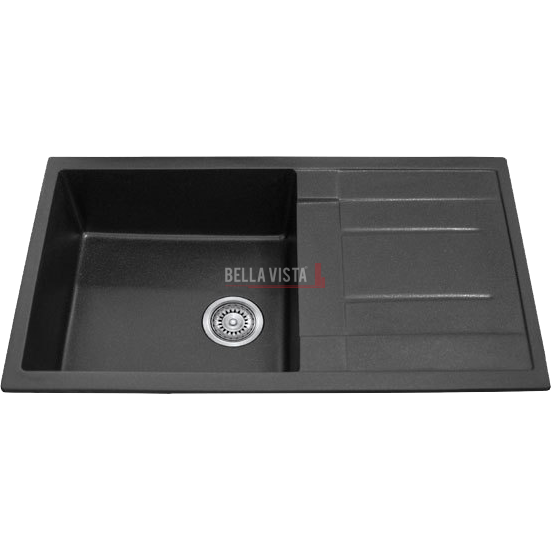 Black Granite Stone Composite Sinks Are A Great Choice For The Kitchen.  These Kitchen Sinks Make A Great Feature Point In Your Kitchen. Easy To  Clean And ...