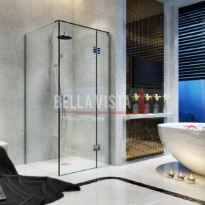 Kit - Fully Frameless - Nano Glass Shower Screen Kit 900x900mm or 1000x1000mm or 1200x900mm - 2100mm Height