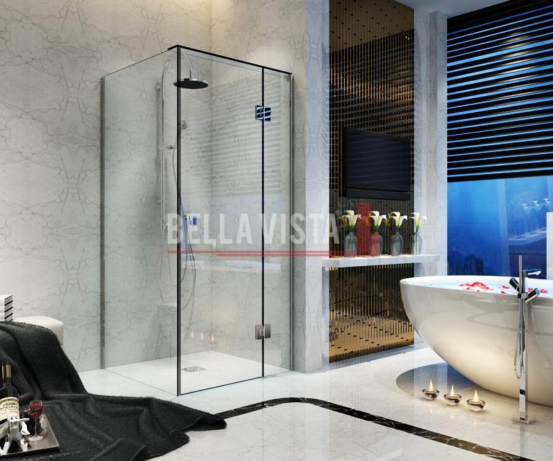 Kit - Fully Frameless - Nano Glass Shower Screen Kit 900x900mm or 1000x1000mm or 1200x900mm - 2100mm Height