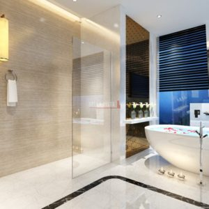 Fully Frameless - Walk in Shower Screen Fixed Panel - Nano Glass 2100mm Height - Multiple Sizes
