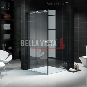 Fully Frameless Sliding Shower Screen 2000mm