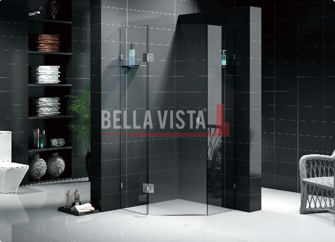 "Custom Size Fully Frameless ""Diamond"" Shower Screen"