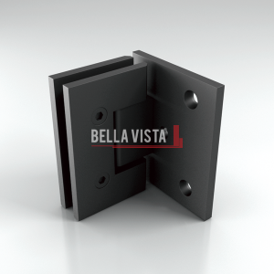 FH90 BLK_Web Bella Vista Hinge 90 degree Wall to Glass Black