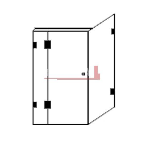 Builder's Range Shower Screen Builder's Range 1200mm