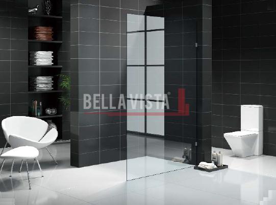 Fully Frameless Walk in Shower Screen Fixed Panel 1800mm