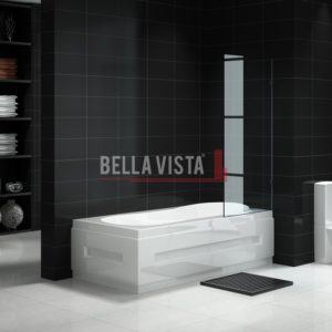 Fully Frameless - Over Bath - Fixed Shower Panel available in 700, 750, 800, 850 or 900mm