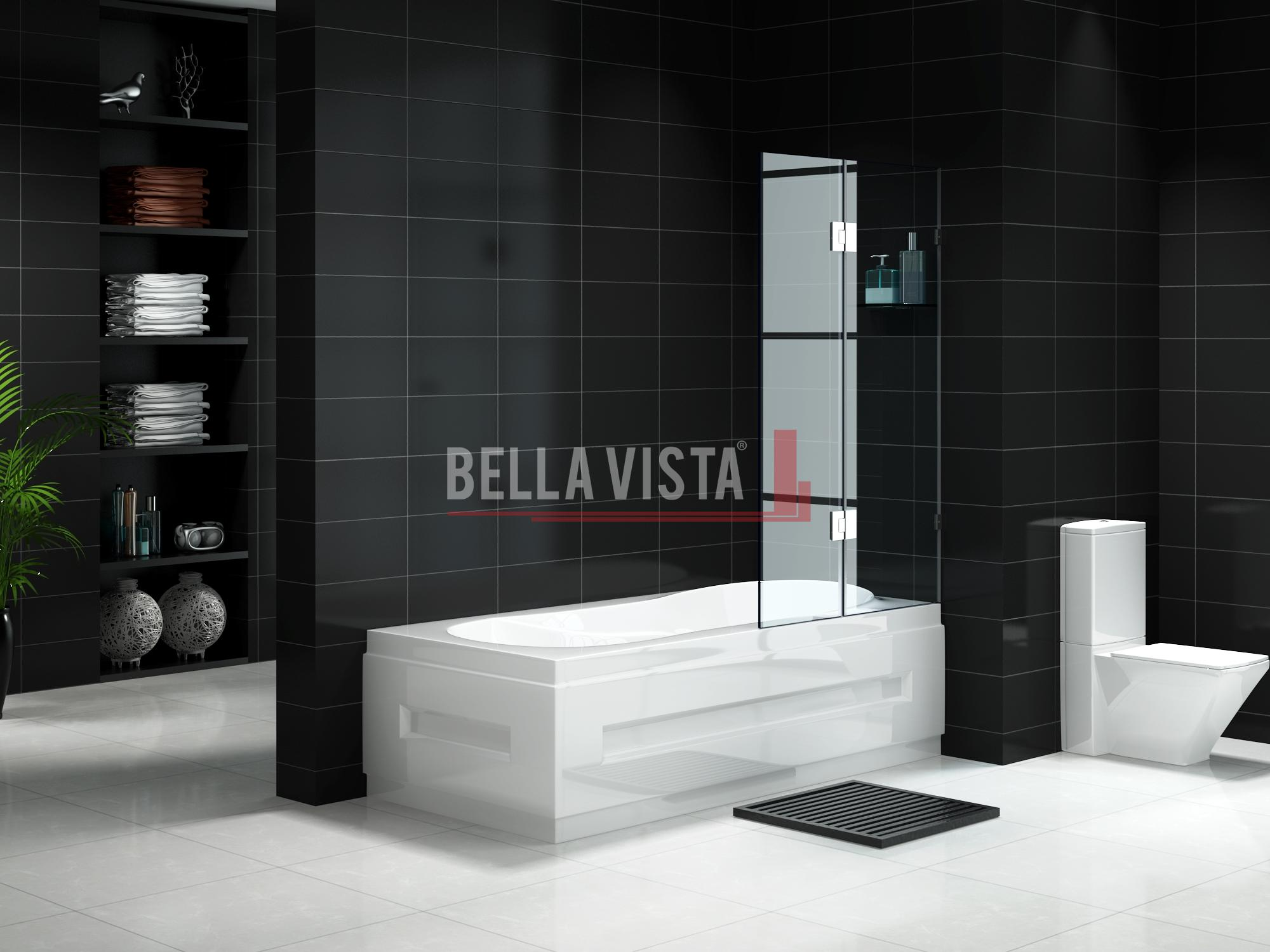 Fully Frameless - Over Bath - Fixed and Swing available in 900 or 1000mm