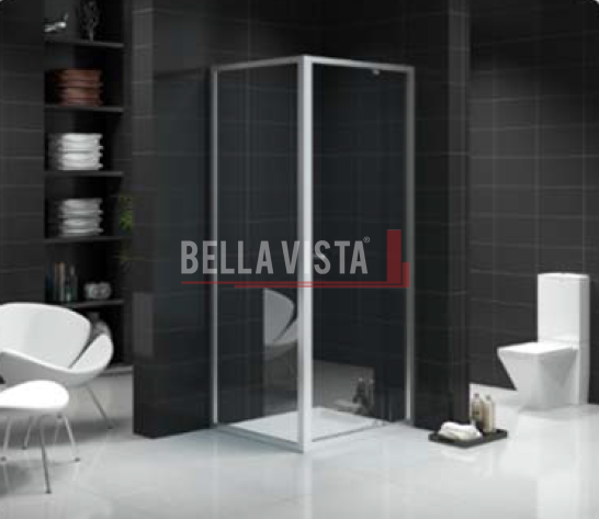 Custom Size Semi Frameless Shower Screen 1130-1210mm