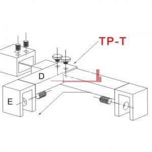 TP-T Schematic Bella Vista Stabiliser - Hinge Panel Adaptor to suit TPSW