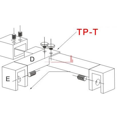 TP-T Schematic Bella Vista Stabiliser - Hinge Panel Adaptor to suit TPSW