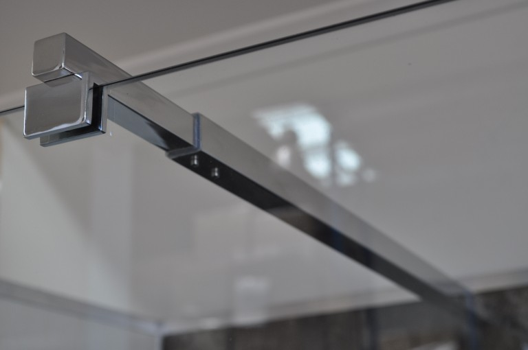 Square Telescopic Shower Screen Stabiliser to suit 12mm Glass