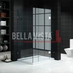 Custom Fully Frameless Shower Screen Front and Return Multiple Sizes