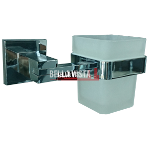 1258B bella vista Square Single Toothbrush Tumbler Holder