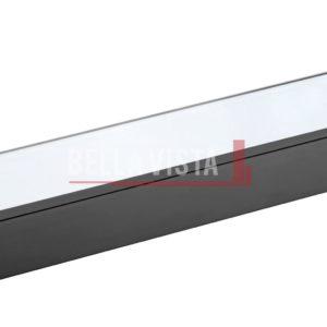 Chunky Glass Shelf 600mm Black