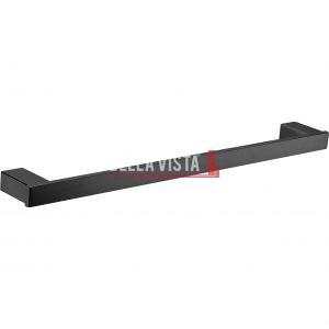 1424-750 BLK bella vista Chunky Single Towel Rail 600 or 750mm Black