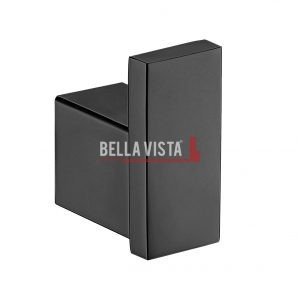 1453S BLK bella vista Chunky Robe Hook Black