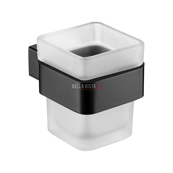 1458 BLK bella vista Chunky Single Tumbler Holder Black