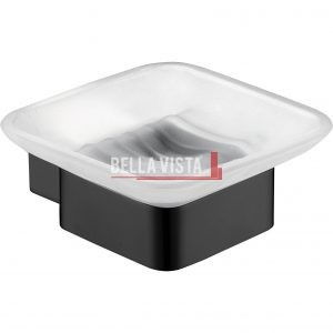 1469 BLK bella vista Chunky Soap Dish Black