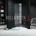 Custom Fully Frameless Shower Screen Front and Return Multiple Sizes