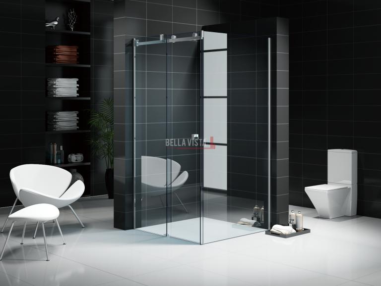 Custom Fully Frameless Sliding Shower Screen Front Only Multiple Sizes