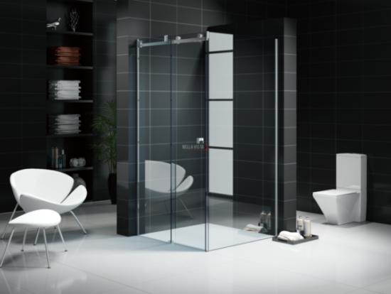 Custom Fully Frameless - Sliding Shower Screen - Front and Return - Multiple Sizes