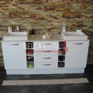 Riva Vanity White 1800mm Dual Basin
