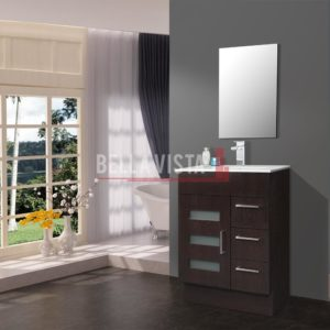 Lamour Vanity Wenge Finish 750mm Ceramic Basin
