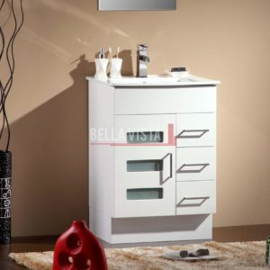 Lamour Vanity White 600mm Ceramic Basin
