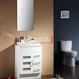 Vanity White 600mm Stone Top
