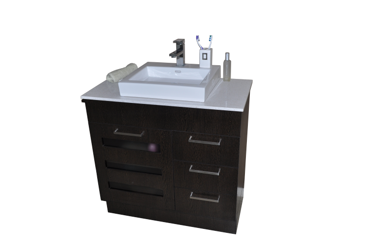Lamour Vanity Wenge Finish 750mm Stone Top