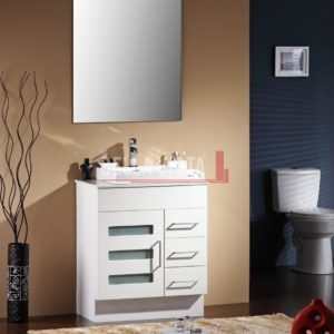 Lamour Vanity White 750mm Stone Top