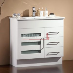 Lamour Vanity White 900mm Ceramic Basin