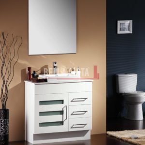 Lamour Vanity White 900mm Stone Top