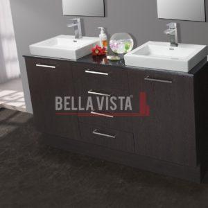Riva Vanity Wenge Finish 1500mm Dual Basin