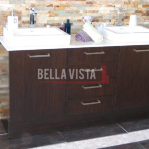 Riva Vanity Wenge Finish 1800mm Dual Basin