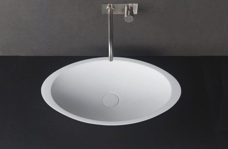Solid Surface Basin Oval Shape Gloss
