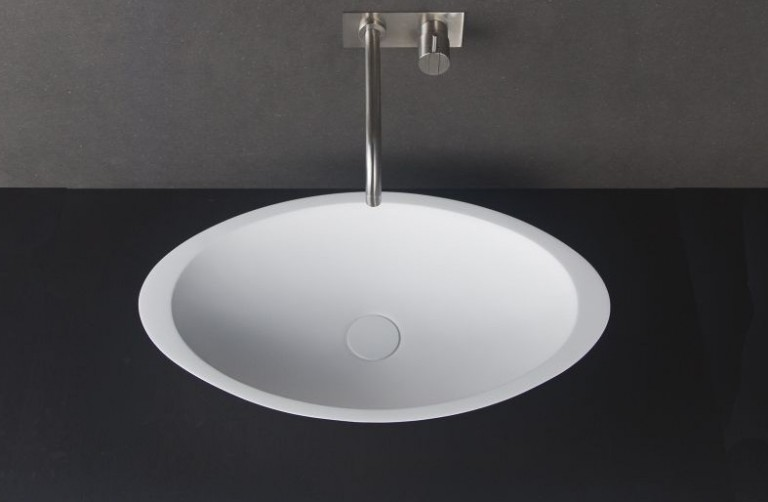 Solid Surface Basin Oval Shape Matt
