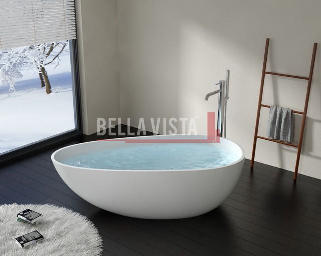 Solid Surface Bath Oval Shape Gloss 1670mm